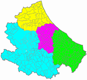 The municipalities of Abruzzo